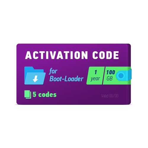 Boot-Loader 2.0 Activation Code (1 year, 5 codes x 100 GB)