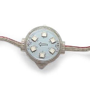 Round LED Module Kit (full color, 6 SMD5050 LEDs, 40 mm, IP67, 20 pcs.)