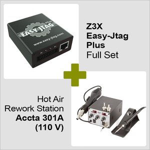 Z3X Easy-Jtag Plus Full Set + Hot Air Rework Station Accta 301A (110 V)
