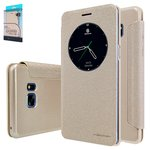 Case Nillkin Sparkle laser case compatible with Samsung N930FGalaxy Note 7, (golden, flip, PU leather, plastic) #6902048150454
