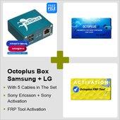 Octoplus Box Samsung + LG + FRP Tool + Activación Unlimited para Sony Ericsson + Sony con juego de cables 5 en 1