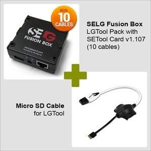 SELG Fusion Box SE Tool Pack с SE Tool картой v1.107 (10 кабелей) + Micro SD кабель для LG Tool