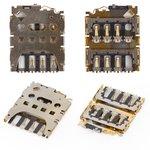 Конектор SIM-карти для Motorola XT1540 Moto G3 (3nd Gen), XT1541 Moto G3 (3nd Gen), XT1544 Moto G3 (3nd Gen), XT1548 Moto G3 (3nd Gen), XT1550 Moto G3 (3nd Gen)