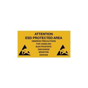 Warmbier 2850.300500.D Предупреждающие наклейки об антистатической безопасности (10 шт.)