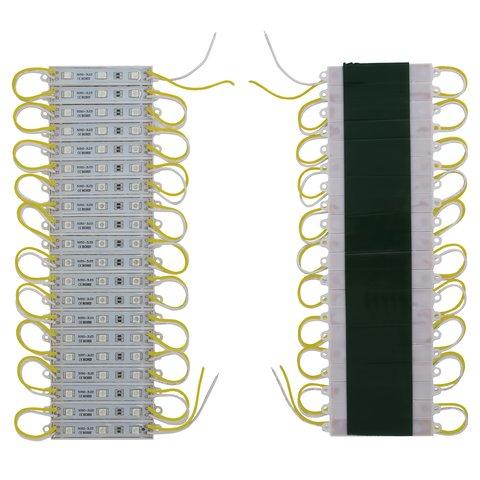 Світлодіодний модуль стрічка SMD 5050, 20 шт. по 3 світлодіоди жовтий, самоклеючий, 1200 лм, 12 В, IP65