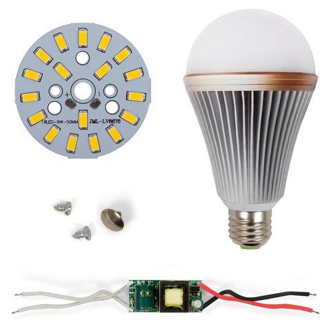 Комплект для збирання світлодіодної лампи SQ Q24 5730 9 Вт теплий білий, E27 , регулювання яскравості димірування