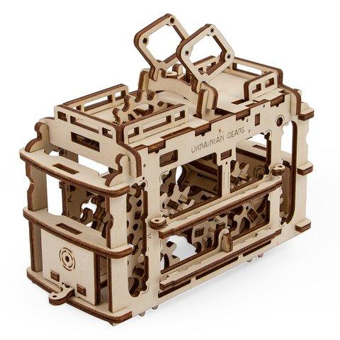 Механический 3D-пазл UGEARS Трамвайчик