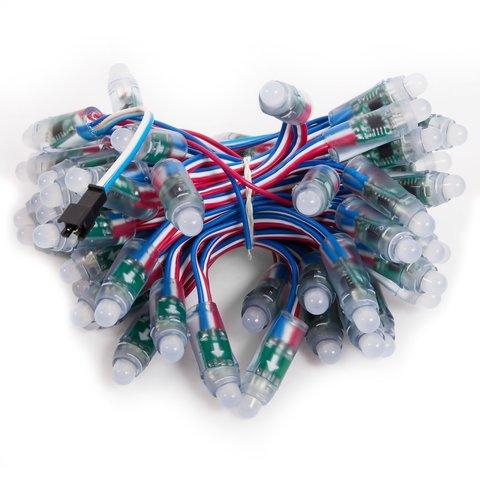 LED RGB Pixel Module 50 pcs., WS2811, DC 5 V, 12 mm, IP68